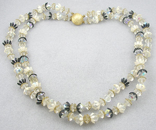 Newly Added Crystal Bead Double Strand Necklace