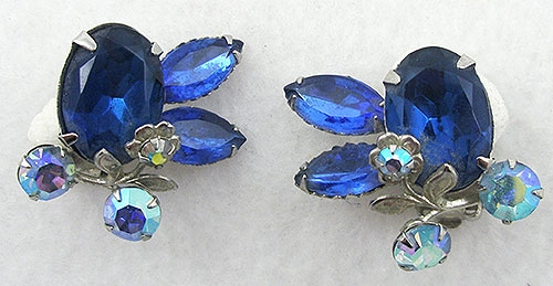 Newly Added Cathé Blue Rhinestone & Aurora Earrings