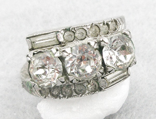 Newly Added Romega Sterling Rhinestone Ladies Ring