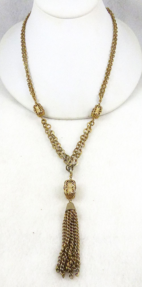 Newly Added Emmons Gold Tassel Necklace