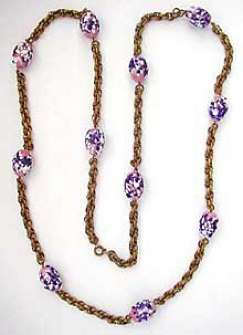 Newly Added Miriam Haskell Art Glass Rope Necklace