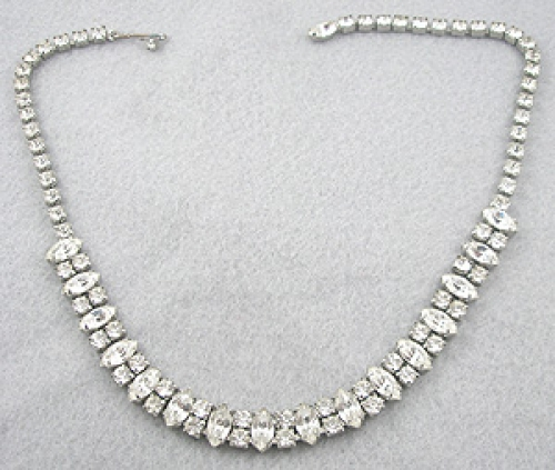Newly Added Weiss Rhinestone Navette Necklace