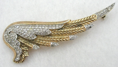 Newly Added Trifari Rhinestone Wing Brooch