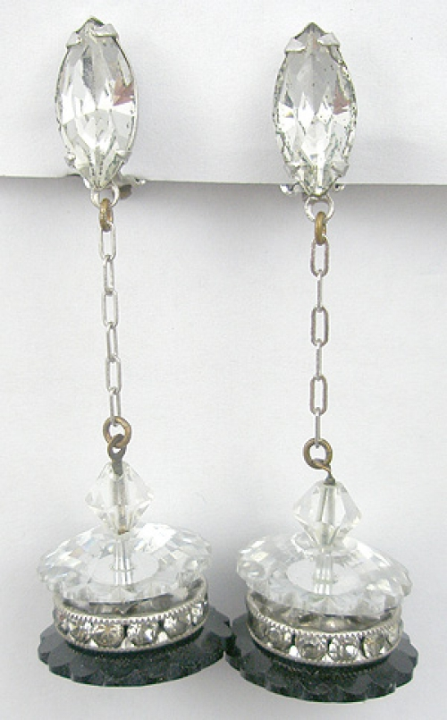 Newly Added Lewis Segal Crystal Chandelier Earrings