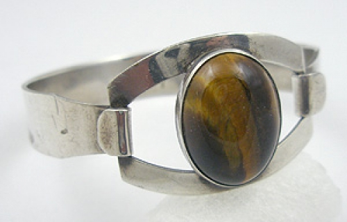 Newly Added Israeli Sterling Tiger Eye Bracelet