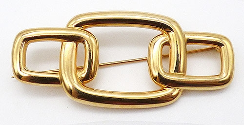 Newly Added Monet Gold Tone Buckle Brooch