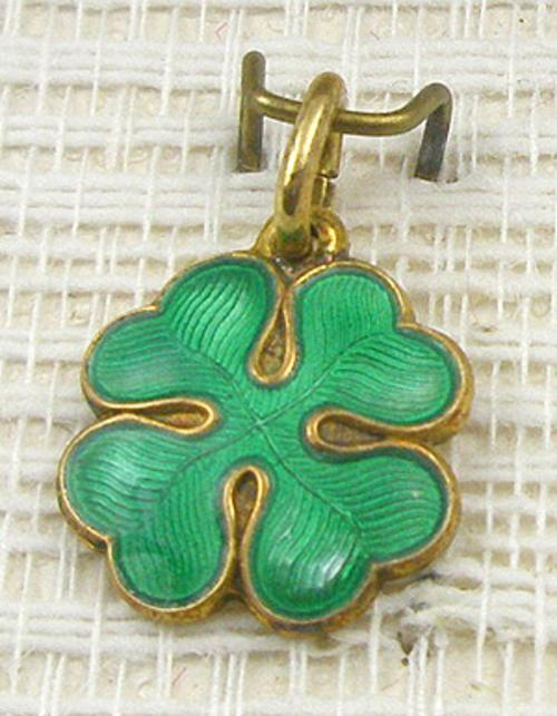 Newly Added Opro Sterling Enameled Clover Charm