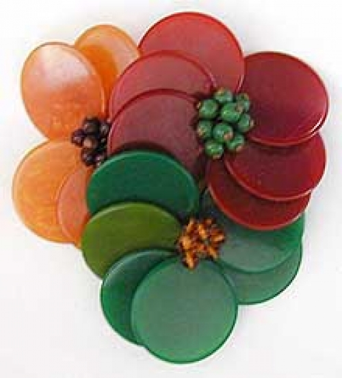 Newly Added Miriam Haskell Bakelite Disc Brooch