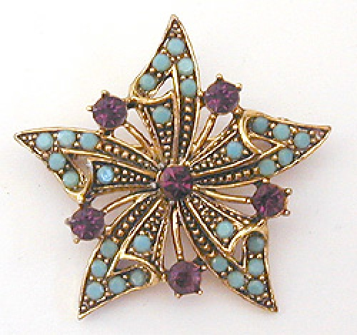 Newly Added Hollycraft Star Brooch