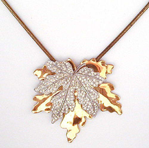 Newly Added McClelland Barclay Leaf Necklace