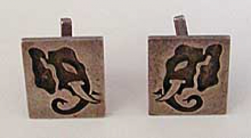 Newly Added Romero Taxco Sterling Elephant Cuff Links