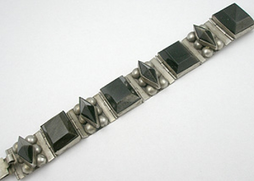 Newly Added Mexican Sterling Golden Obsidian Bracelet