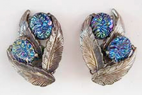 Newly Added Schiaparelli Carnival Glass Earrings