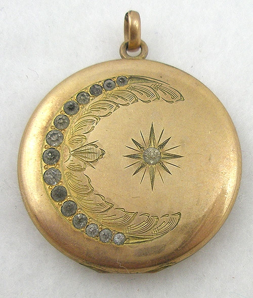 Newly Added Victorian Crescent Moon & Star Locket
