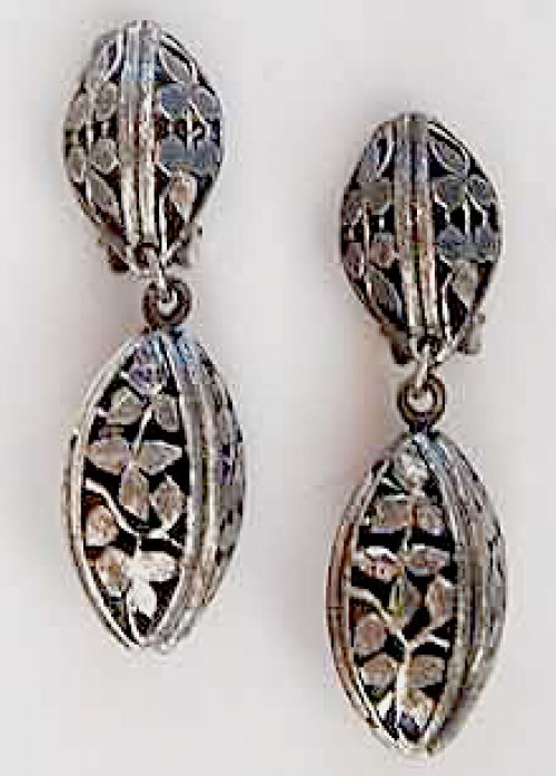 Newly Added Tortolani Silver Filigree Earrings