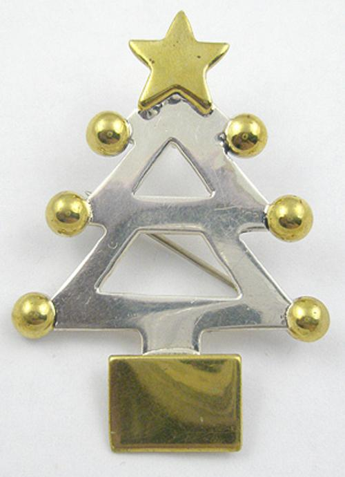 Newly Added Mexican Sterling Christmas Tree Brooch