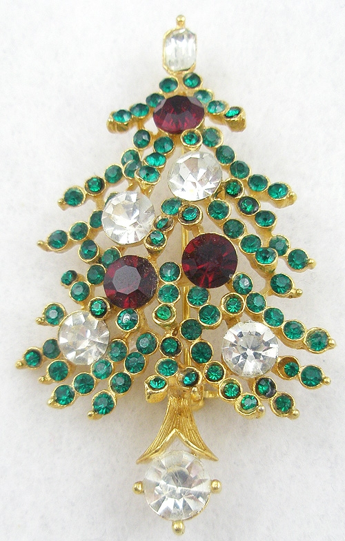 Newly Added Lisner Christmas Tree Brooch
