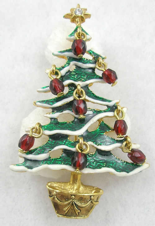 Newly Added Avon 2000 Christmas Tree Brooch