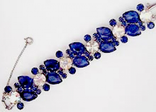 Newly Added DeLizza & Elster Blue Teardrop Rhinestone Bracelet