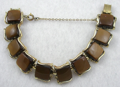 Newly Added Coro Chocolate Brown Moonglow Bracelet