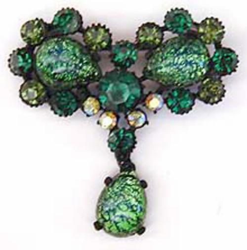Newly Added Claudette Art Glass Brooch