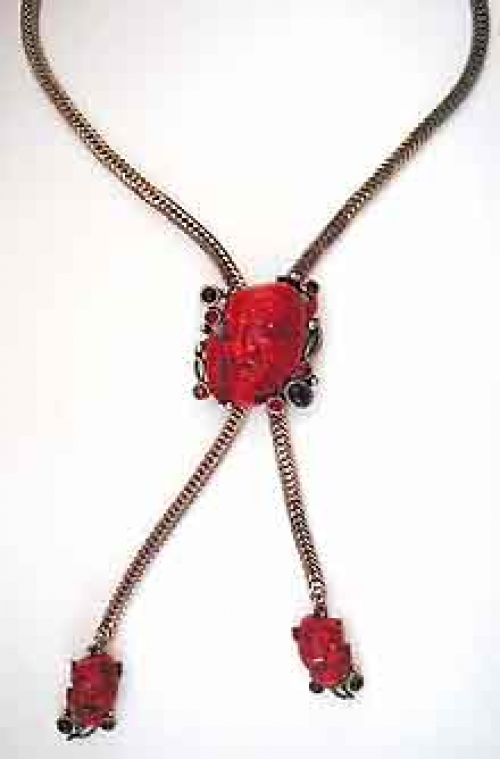 Newly Added Selro Red Devil Bolo Necklace