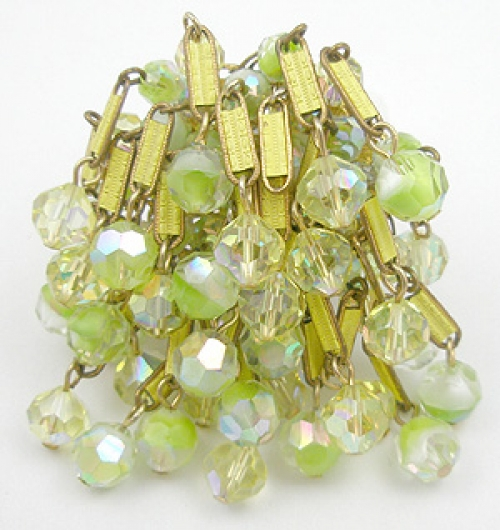 Newly Added Alice Caviness Lemon-Lime Crystals Brooch