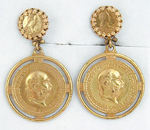 Newly Added Miriam Haskell Coin Earrings