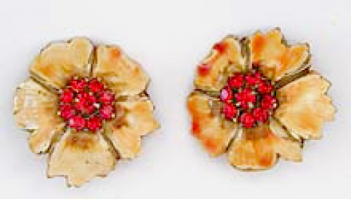 Newly Added Sandor Yellow Flower Earrings
