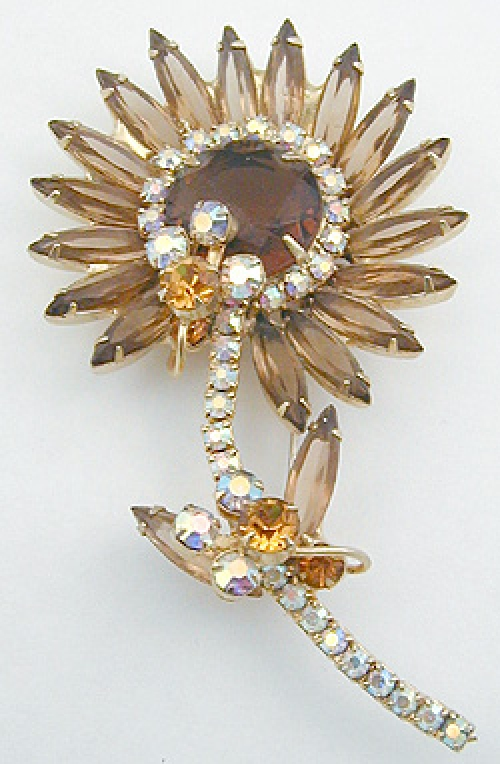 Newly Added DeLizza & Elster Topaz Flower Brooch