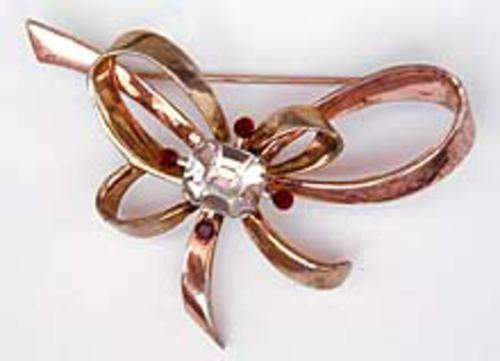 Newly Added Retro Sterling Bow Brooch