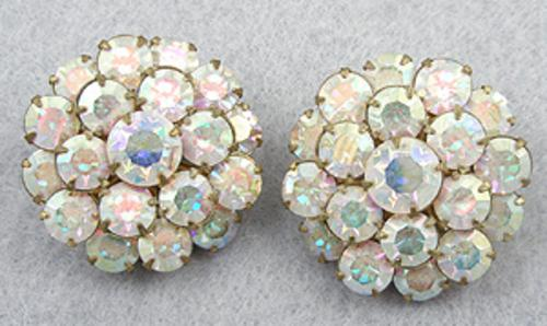 Newly Added Aurora Borealis Rhinestone Earrings