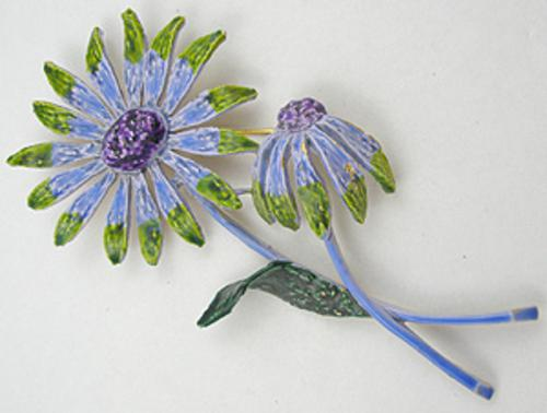 Newly Added Art Enameled Flower Brooch