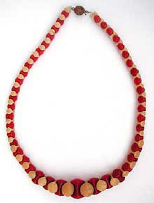 Newly Added French Interlocking Glass Bead Necklace
