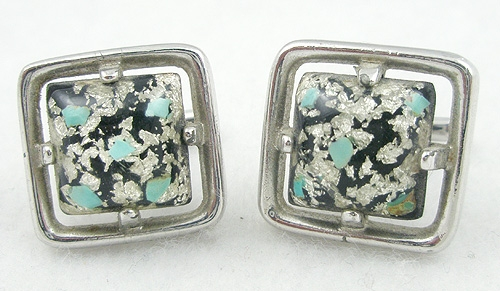 Newly Added Hickok Lucite Confetti Cuff Links