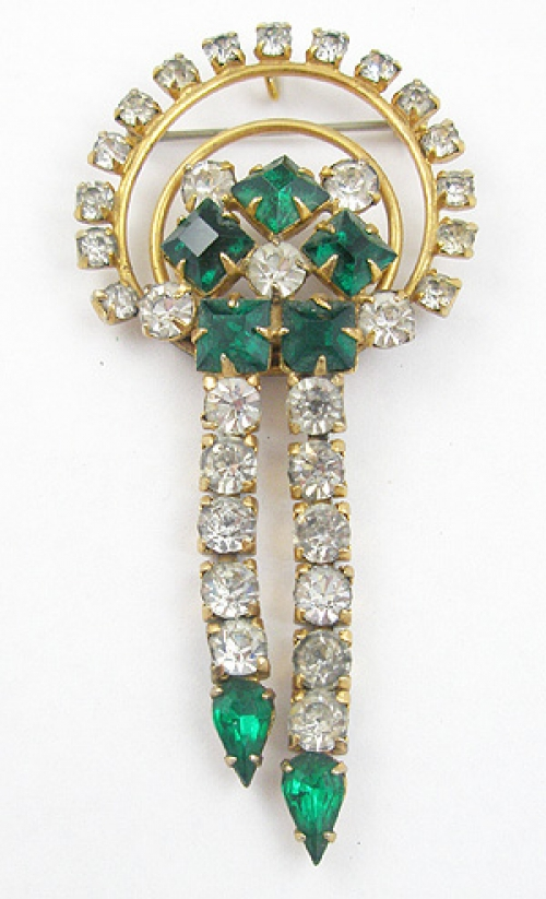 Newly Added 1940's Retro Rhinestone Brooch