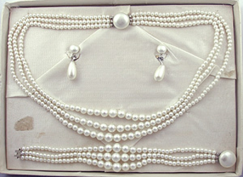 Newly Added Faux Pearl Parure