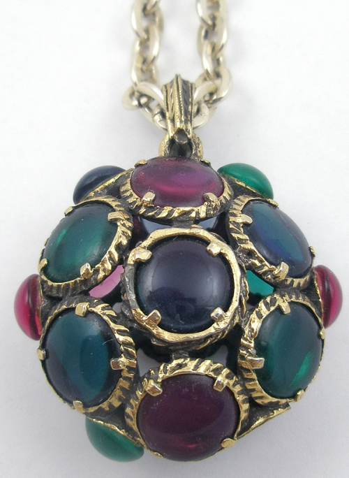 Newly Added Trifari Stained Glass Pendant