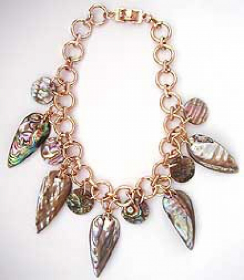 Newly Added French Abalone Leaf Necklace