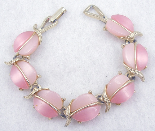 Newly Added Pink Plastic Link Bracelet