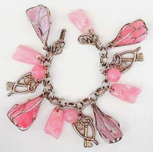 Newly Added Pink Plastic Charm Bracelet