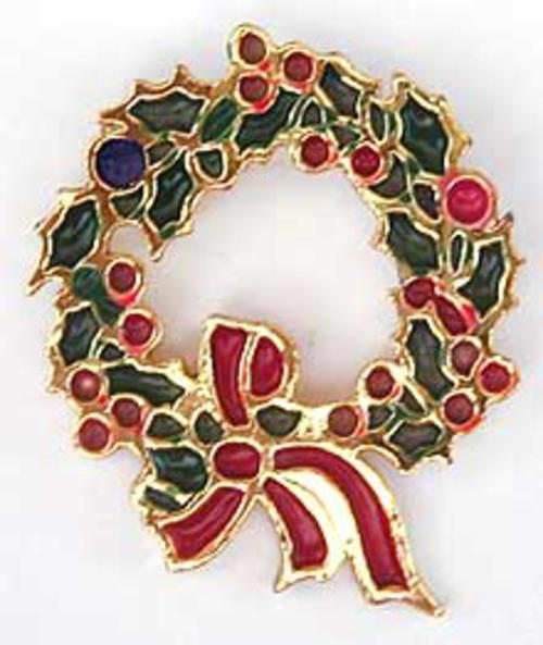 Newly Added Beatrix Christmas Wreath Brooch