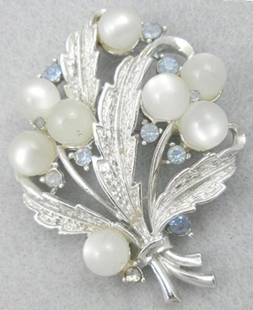 Newly Added White Moonglow Bouquet Brooch