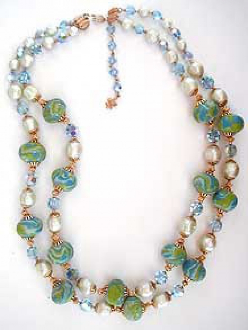 Newly Added Vendome Sugar Beads Necklace Set