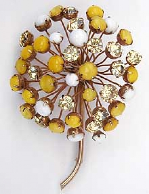 Newly Added Cis Yellow Flower Brooch