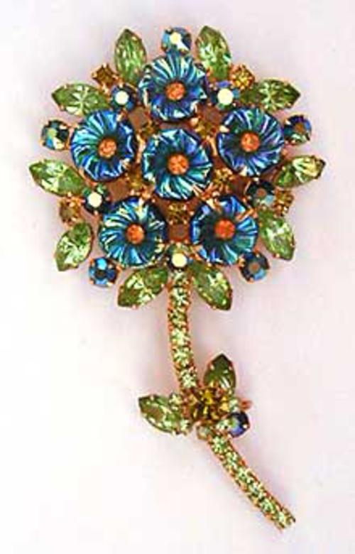 Newly Added DeLizza & Elster Flower Brooch