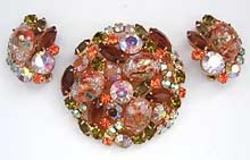 Newly Added DeLizza & Elster Easter Egg Brooch Set