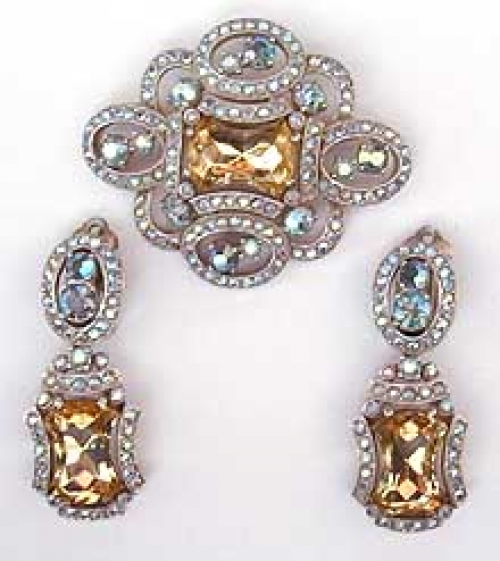 Newly Added Schiaparelli Jonquil Brooch Set