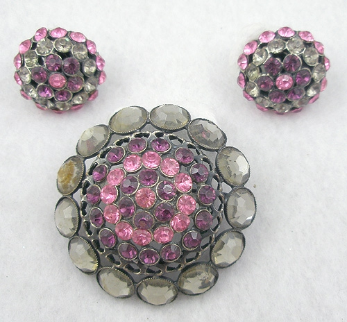 Newly Added Alice Caviness Domed Brooch Set
