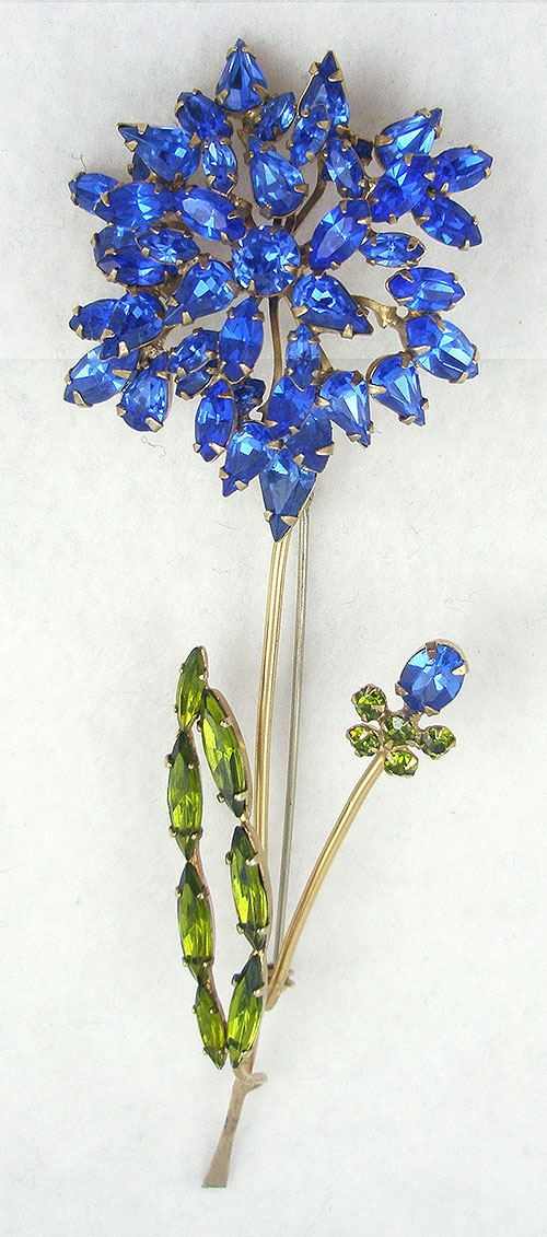 Newly Added Schreiner Blue Flower Brooch